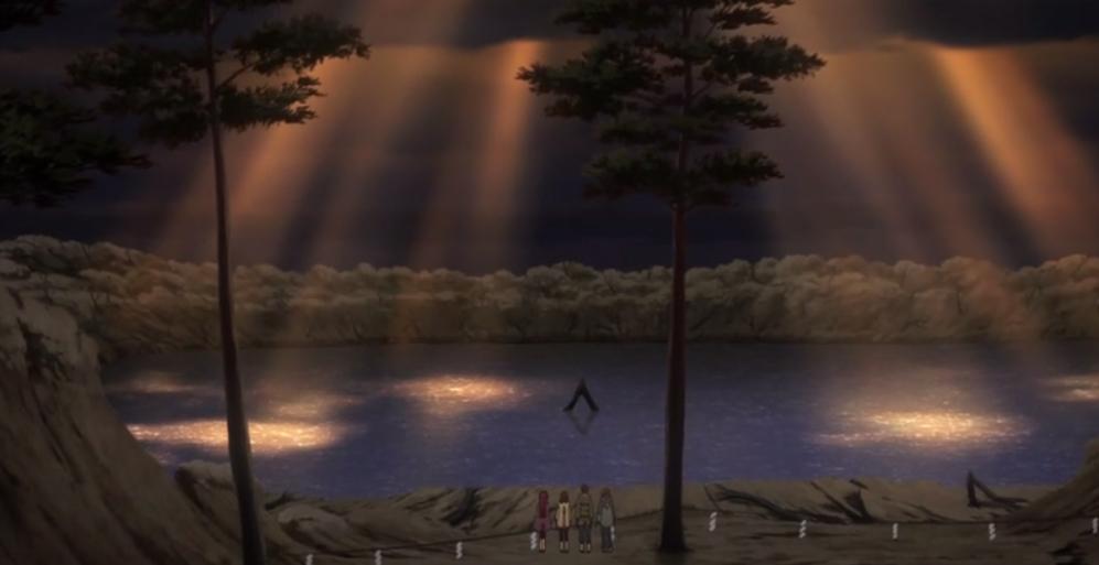 o demônio do karma afundou no lago